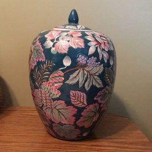Vintage Jar with Nature Design